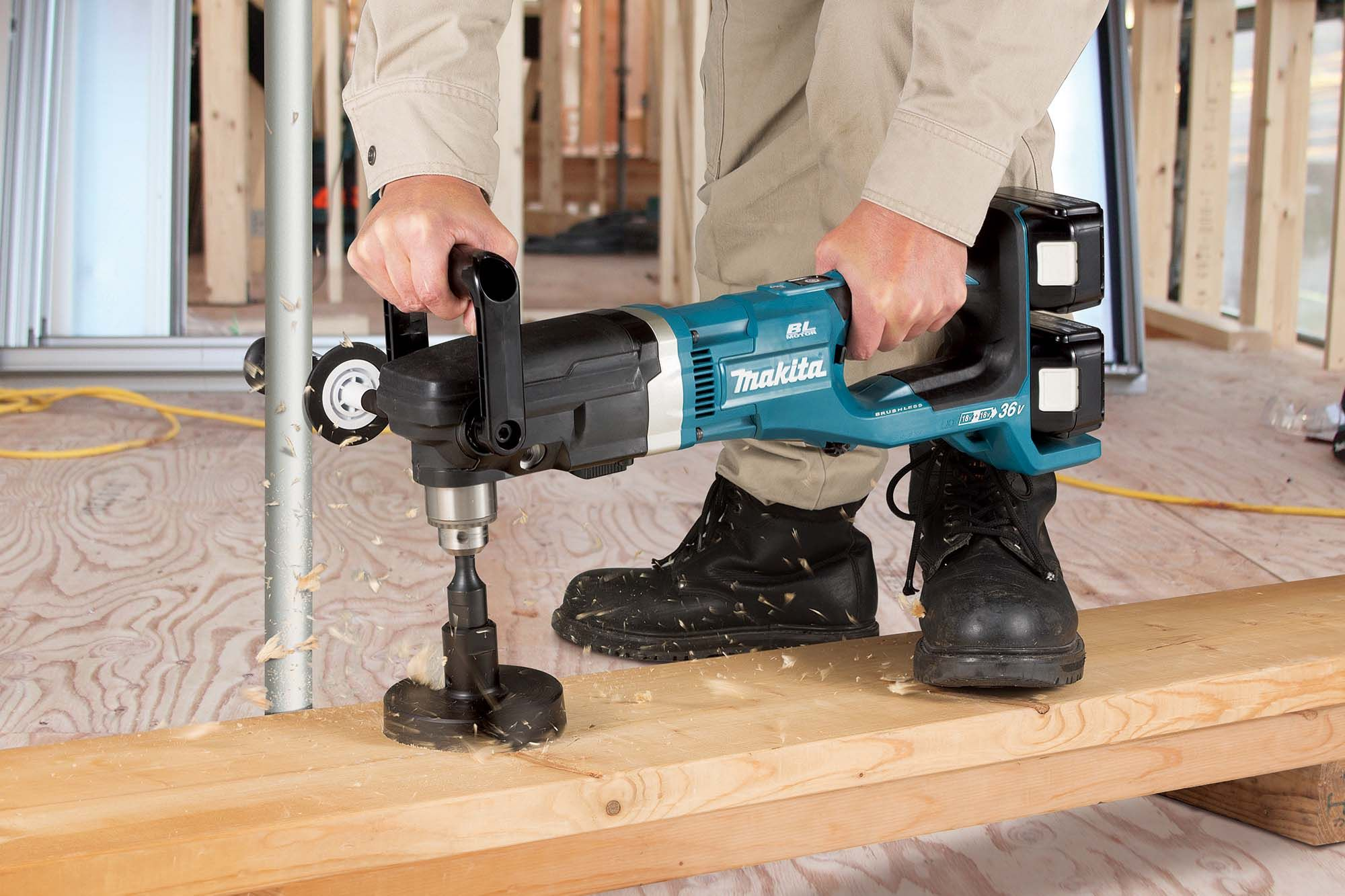 Makita S Twin 18v Lxt Angle Drill Exceeds Mains Delivery And Mak